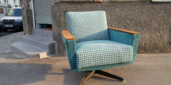Fauteuil, Sitzmöbel mit tapezieren Armlehnen aus den 60ties